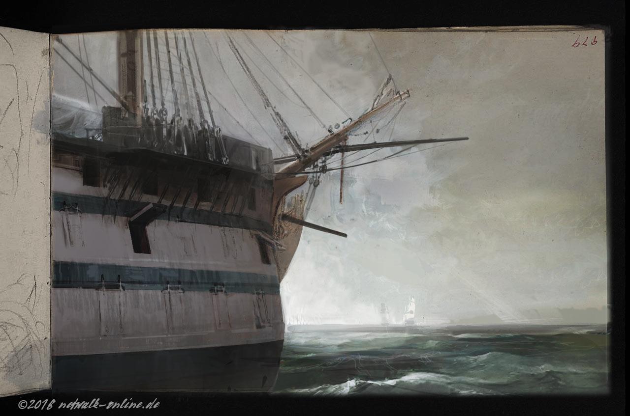 öffnung im schiffsheck